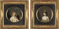 portrait of john archer (+ portrait of madame auguste rosset, née anna archer; pair) by firmin massot