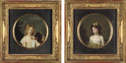 portrait of john archer portrait of madame auguste rosset née anna archer pair by firmin massot