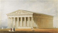 a reconstruction of the parthenon, athens by thomas allom