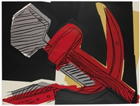 hammer and sickle by andy warhol
