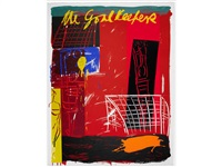 moving the goalposts i - iii (set of 3 + another; 4 works) by bruce mclean