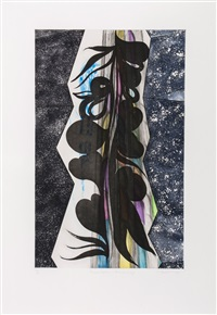 rincon falls black leaf by chris ofili