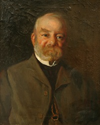 portrait (the honorable henry gullett mla?) by julian rossi ashton