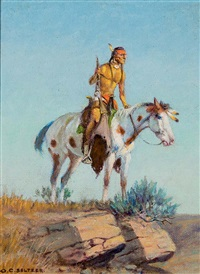 indian scout by olaf c. seltzer