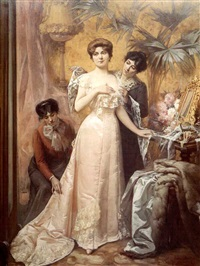 preparing for the ball by louis humbert