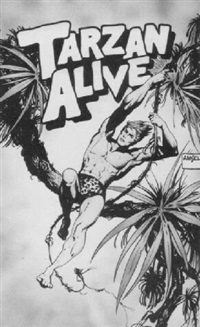 tarzan swinging from vine by richard amsel