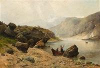 heimliches rendezvous auf dem gebirgssee by karl lorenz rettich