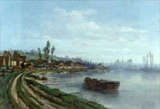 lavandières au bord du fleuve by gaston cornil
