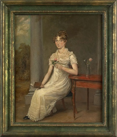 portrait of a young woman by thomas arrowsmith