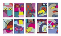 ups and downs (set of 10) by kaws