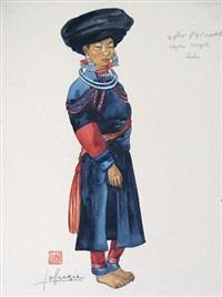 lishu, jeune birmane de mogok by léa (madame) lafugie