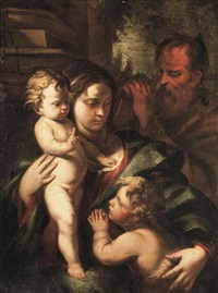 the holy family with the infant saint john the baptist by nicola vaccaro