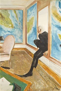 study for the thief by julio larraz