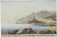 view of la rocco and part of the bay of st. ouens, jersey by william (lieutenant-colonel) booth
