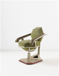 executive armchair from the offices of the harold price co. tower, bartlesville, oklahoma by frank lloyd wright