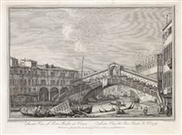 another view of ponte rialto at venice (after canaletto) by henry fletcher