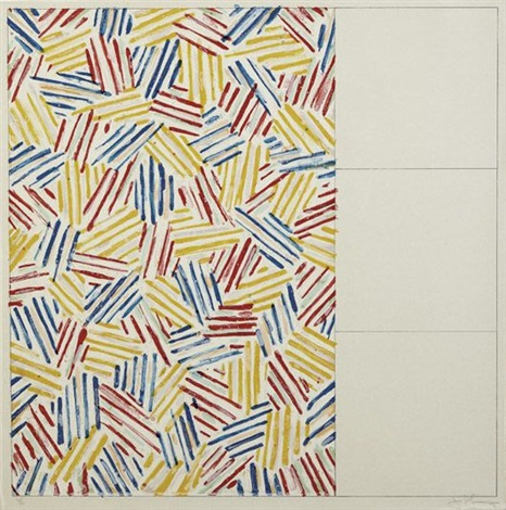 untitled 1975 no 1 from 6 lithographs series by jasper johns