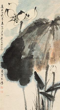 白荷 by zhang daqian