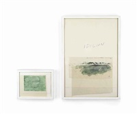 idilion (diptych, various sizes) by cy twombly