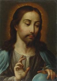 christ holding the globe by juan de correa