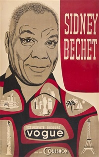sidney bechet by pierre merlin