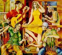 fiesta en el balcon by esteban alvarez buylla