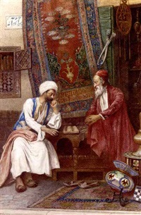 an oriental game of dice by umberto cacciarelli
