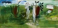 la statue et les deux vasques by raoul dufy