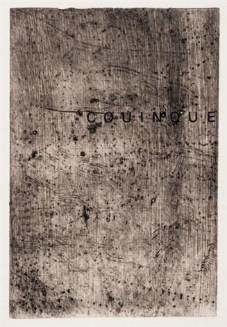 couinque webel 896 902 edition originale du texte de dubuffet en jargon accompagné de 7 by jean dubuffet