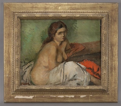 draped nude by moses soyer