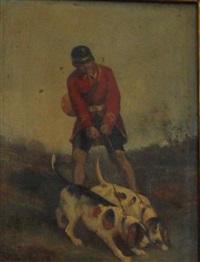piqueux et ses deux chiens by james alexander walker