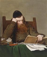 bildnis eines jüdischen philosophen nach dem original von friedrich von amerling by friedrich von amerling