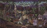 a haitian procession by gesner abelard