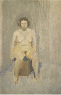 seated nude by michael andrews