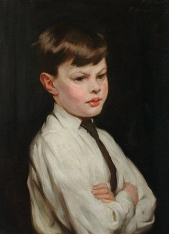portrait of anthony john the artists son by percy harland fisher