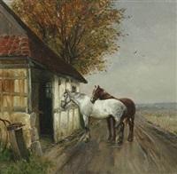 heste ved en smedie by simon ludvig ditlev simonsen