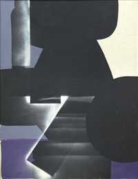 composition noire et violette by ladislas pierre kijno