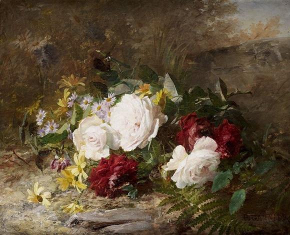 jeté de fleurs by pierre garnier