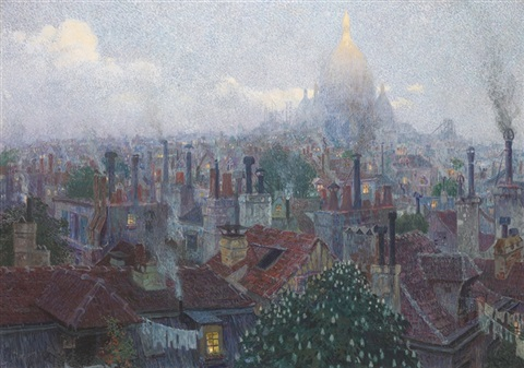 view of the sacre coeur from montmartre paris by rudolf quittner