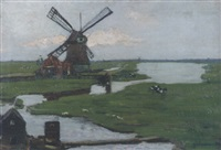paysage au moulin by guillaume georges roger