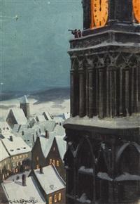 konvolut von fünf zeichungen (5 works) by franz xaver jung-ilsenheim