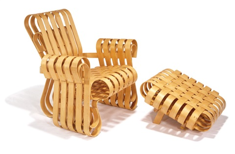 power play club chair and ottoman model 94l gc set of 2 by frank gehry