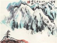 雪霁 立轴 纸本 by he haixia