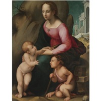 the madonna and child with the infant saint john the baptist by andrea piccinelli