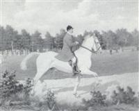 elegant cavalier aux courses by ernest alexandre bodoy
