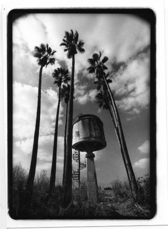 a water tower in petach tikva from elegy by aliza auerbach