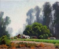 farm scene in eucalyptus landscape by darwin duncan