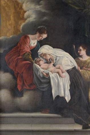 la vierge présentant lenfant à sainte françoise romaine by orazio gentileschi