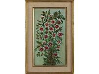 fleurs rouges sur fond vert by séraphine de senlis