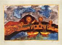 kathedrale und fischerboote (+ 3 others; 4 works) by christian kruck